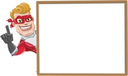 superhero vector cartoon character - Mister Magnetic - Presentation  5