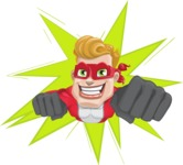 superhero vector cartoon character - Mister Magnetic - Shape 1