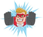 superhero vector cartoon character - Mister Magnetic - Shape 3