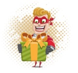superhero vector cartoon character - Mister Magnetic - Shape 8