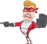 superhero vector cartoon character - Mister Magnetic - Direct Attention