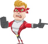 superhero vector cartoon character - Mister Magnetic - Direct Attention 2