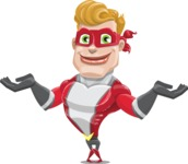 superhero vector cartoon character - Mister Magnetic - Sorry