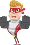 superhero vector cartoon character - Mister Magnetic - Stop 2