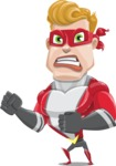 superhero vector cartoon character - Mister Magnetic - Angry