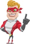 superhero vector cartoon character - Mister Magnetic - Attention