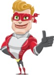 superhero vector cartoon character - Mister Magnetic - Thumbs Up