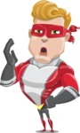 superhero vector cartoon character - Mister Magnetic - Bored 2