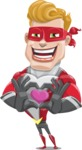 superhero vector cartoon character - Mister Magnetic - Show Love