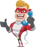 superhero vector cartoon character - Mister Magnetic - Support
