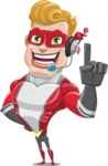 superhero vector cartoon character - Mister Magnetic - Support 2