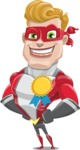 superhero vector cartoon character - Mister Magnetic - Ribbon