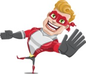 superhero vector cartoon character - Mister Magnetic - Wave