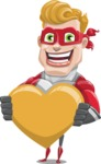superhero vector cartoon character - Mister Magnetic - Love