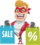 superhero vector cartoon character - Mister Magnetic - Sale 2