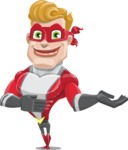 superhero vector cartoon character - Mister Magnetic - Showcase