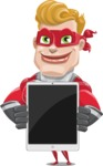 superhero vector cartoon character - Mister Magnetic - iPad 1