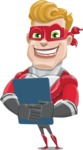 superhero vector cartoon character - Mister Magnetic - Notepad 2