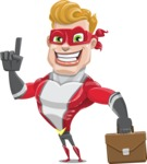superhero vector cartoon character - Mister Magnetic - Briefcase 2