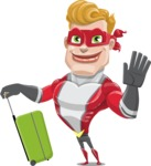 superhero vector cartoon character - Mister Magnetic - Travel 1