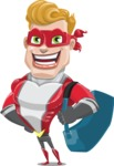superhero vector cartoon character - Mister Magnetic - Travel 2