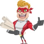 superhero vector cartoon character - Mister Magnetic - Plans
