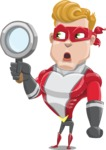superhero vector cartoon character - Mister Magnetic - Search