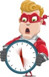 superhero vector cartoon character - Mister Magnetic - Time is Yours