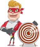 superhero vector cartoon character - Mister Magnetic - Target
