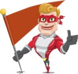 superhero vector cartoon character - Mister Magnetic - Checkpoint
