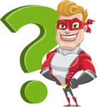 superhero vector cartoon character - Mister Magnetic - Question