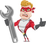 superhero vector cartoon character - Mister Magnetic - Repair