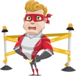 superhero vector cartoon character - Mister Magnetic - Under Construction 2