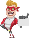 superhero vector cartoon character - Mister Magnetic - Sign 1