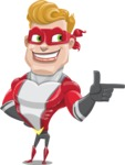 superhero vector cartoon character - Mister Magnetic - Point