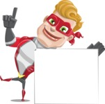 superhero vector cartoon character - Mister Magnetic - Sign 7