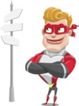 superhero vector cartoon character - Mister Magnetic - Crossroad