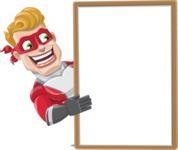 superhero vector cartoon character - Mister Magnetic - Presentation  4