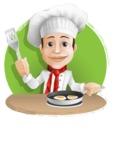 Italian Chef Cartoon Vector Character - Baking Illustration Graphic
