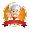 Italian Chef Cartoon Vector Character - Italian Chef Sticker Template