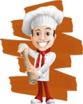 Italian Chef Cartoon Vector Character - The Best Chef Illustration with Background