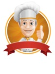 French Chef Cartoon Vector Character AKA Raphael MasterChef - Making Thumbs Up Sticker Template