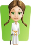 School Girl with Uniform Cartoon Vector Character AKA Viola - Shape 6