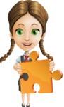 School Girl with Uniform Cartoon Vector Character AKA Viola - Puzzle