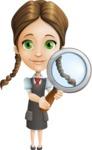 School Girl with Uniform Cartoon Vector Character AKA Viola - Search