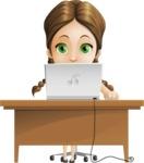 School Girl with Uniform Cartoon Vector Character AKA Viola - Laptop 3