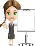 School Girl with Uniform Cartoon Vector Character AKA Viola - Presentation 1