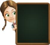 School Girl with Uniform Cartoon Vector Character AKA Viola - Presentation 4