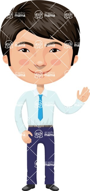 Asian People Vector Cartoon Graphics Maker - Chinese Businessman