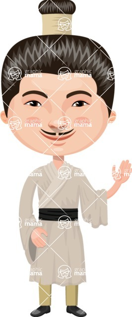 Asian People Vector Cartoon Graphics Maker - Chinese with Black Belt